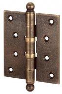 136OA403 Петля дверная универсальная с колпачком ALDEGHI PREMIUM 102x76x3 матовая античная бронза