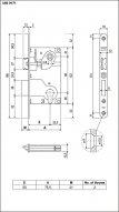 B01025.50.03 Замок межкомнатный (box) под цилиндр 1ригель + защёлка AGB CENTRO (золото)