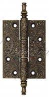 Дверная петля универсальная латунная с узором Venezia CRS011 102x76x4 античная бронза