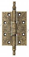 Дверная петля универсальная латунная с узором Venezia CRS011 102x76x4 матовая бронза