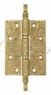 Дверная петля универсальная латунная с узором Venezia CRS011 102x76x4 полированная латунь