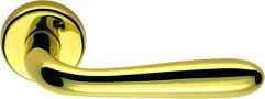 Дверная ручка на круглом основании COLOMBO Robot CD41RGSB-OL полированная латунь