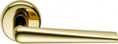 Дверная ручка на круглом основании COLOMBO Robotre CD91RSB-OL полированная латунь