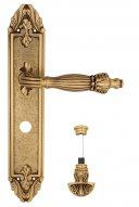 """Дверная ручка Venezia """"OLIMPO"""" WC-4 на планке PL90 французское золото + коричневый"""