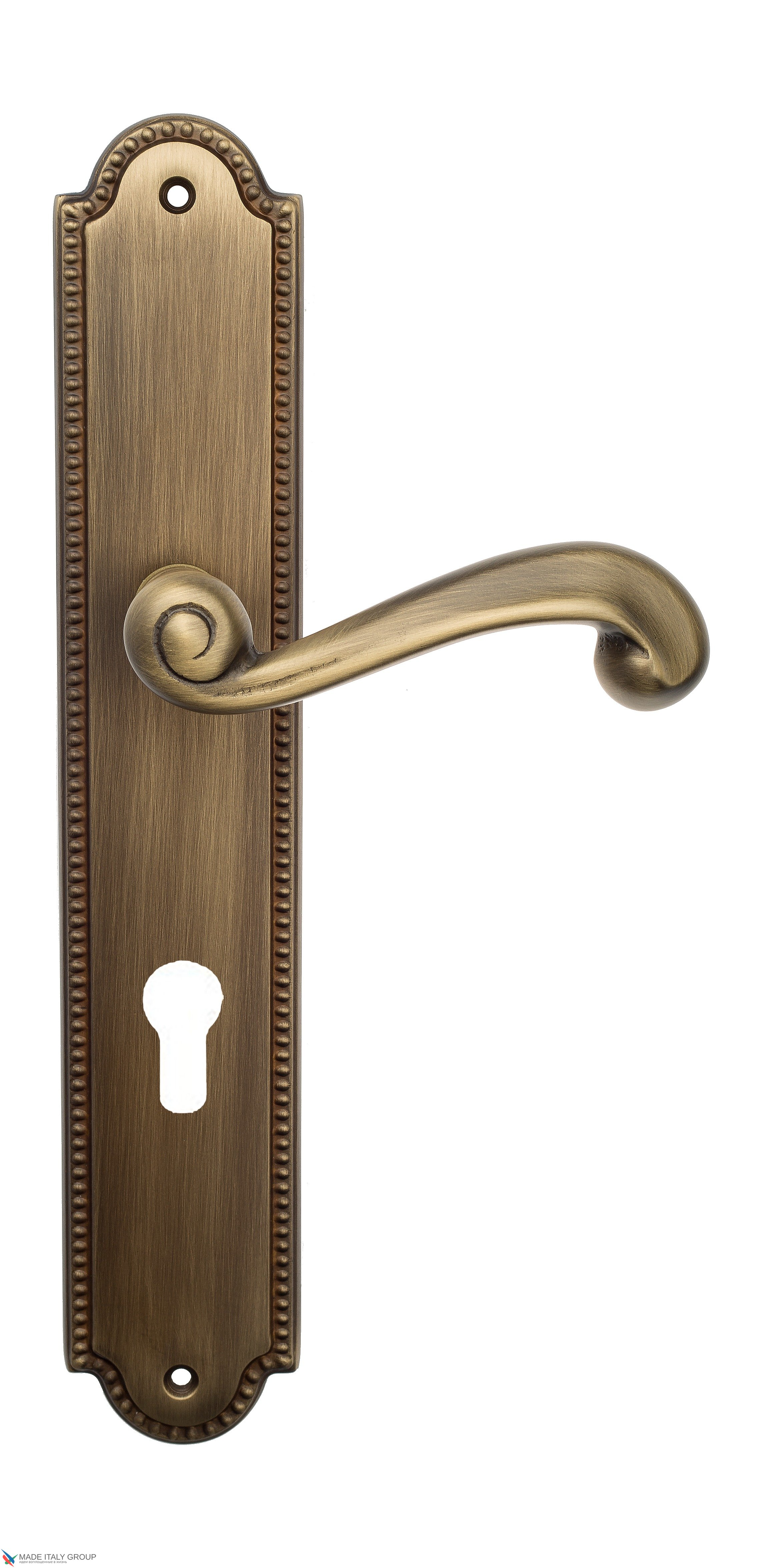 "Дверная ручка Venezia ""CARNEVALE"" CYL на планке PL98 матовая бронза"