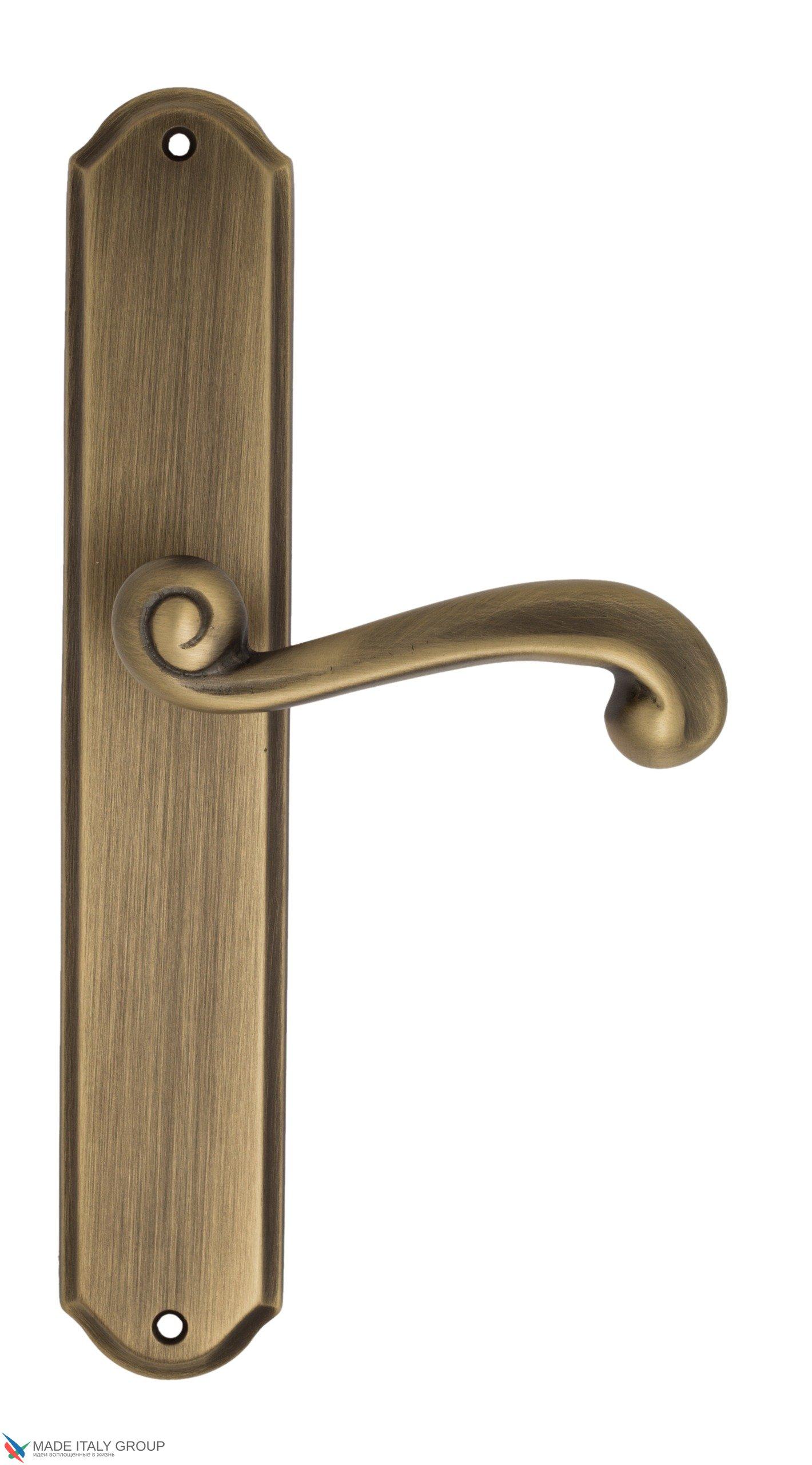 "Дверная ручка Venezia ""CARNEVALE"" на планке PL02 матовая бронза"
