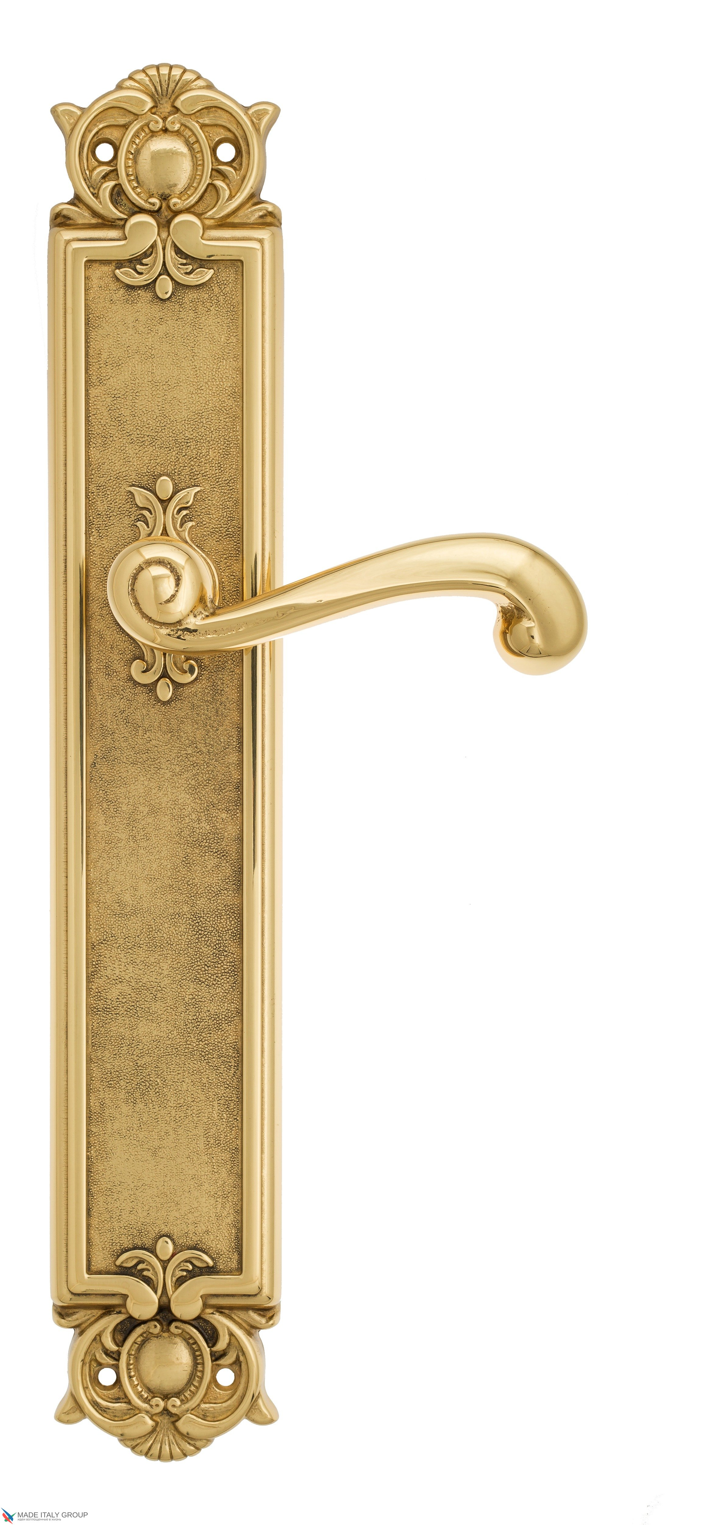 """Дверная ручка Venezia """"CARNEVALE"""" на планке PL97 полированная латунь"""