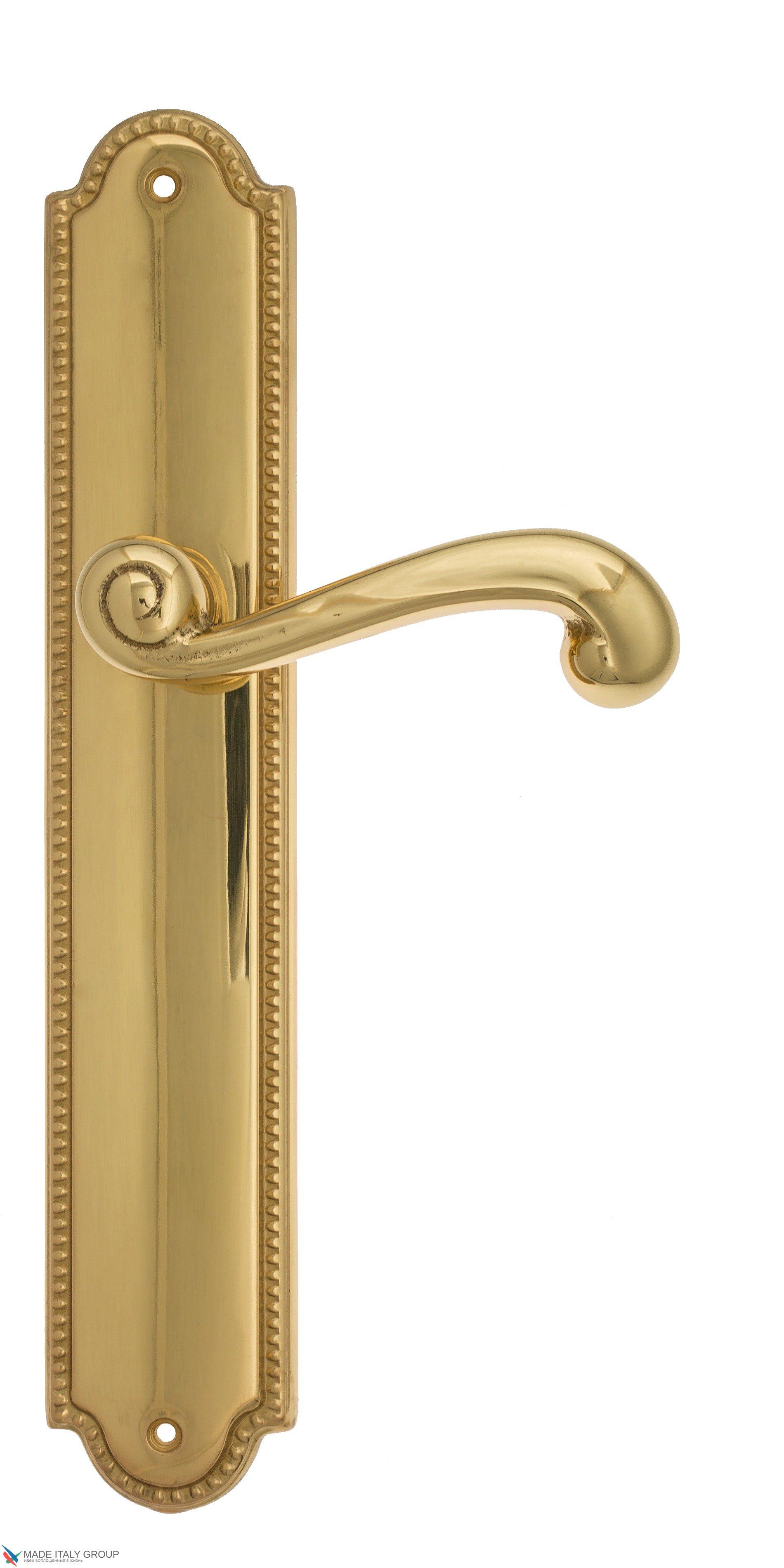 """Дверная ручка Venezia """"CARNEVALE"""" на планке PL98 полированная латунь"""