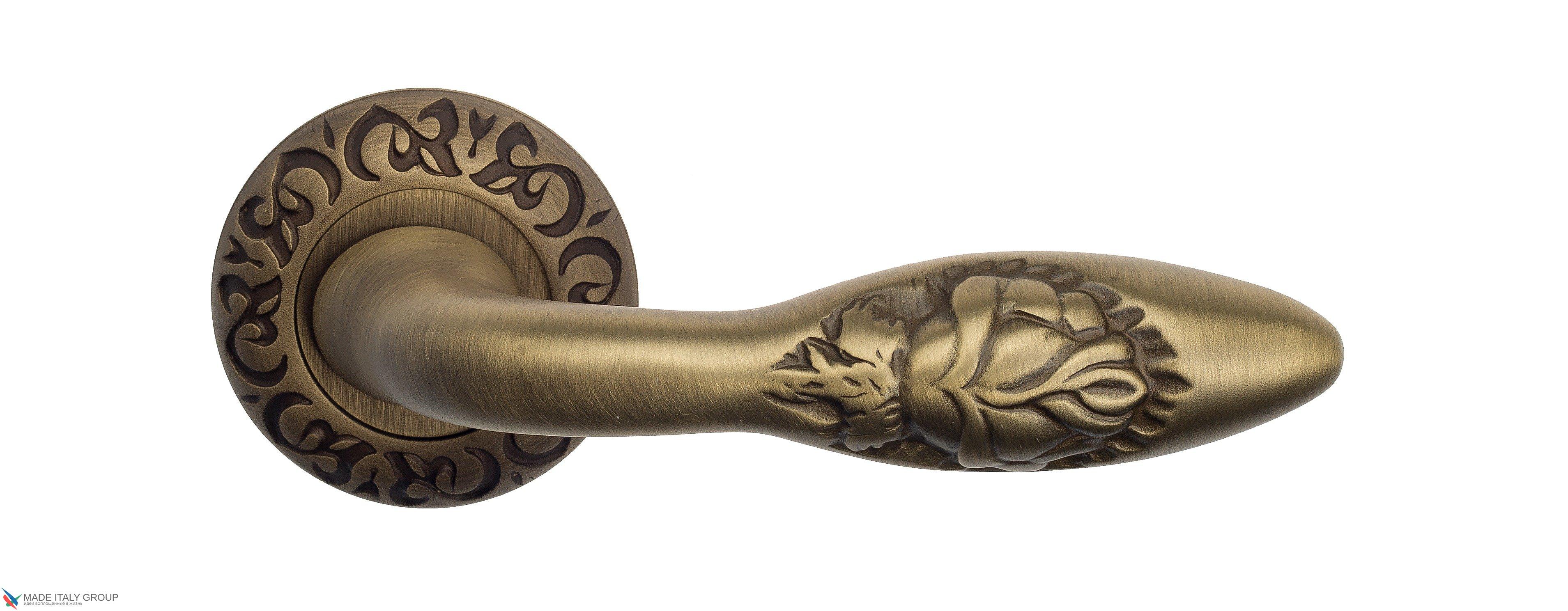 """Дверная ручка Venezia """"CASANOVA"""" D4 матовая бронза"""