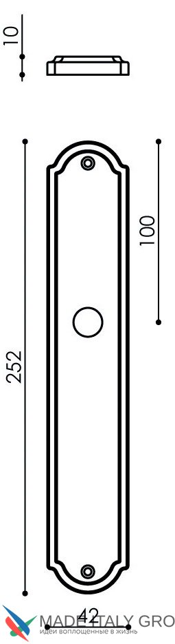 "Дверная ручка Venezia ""CASANOVA"" на планке PL02 матовая бронза"