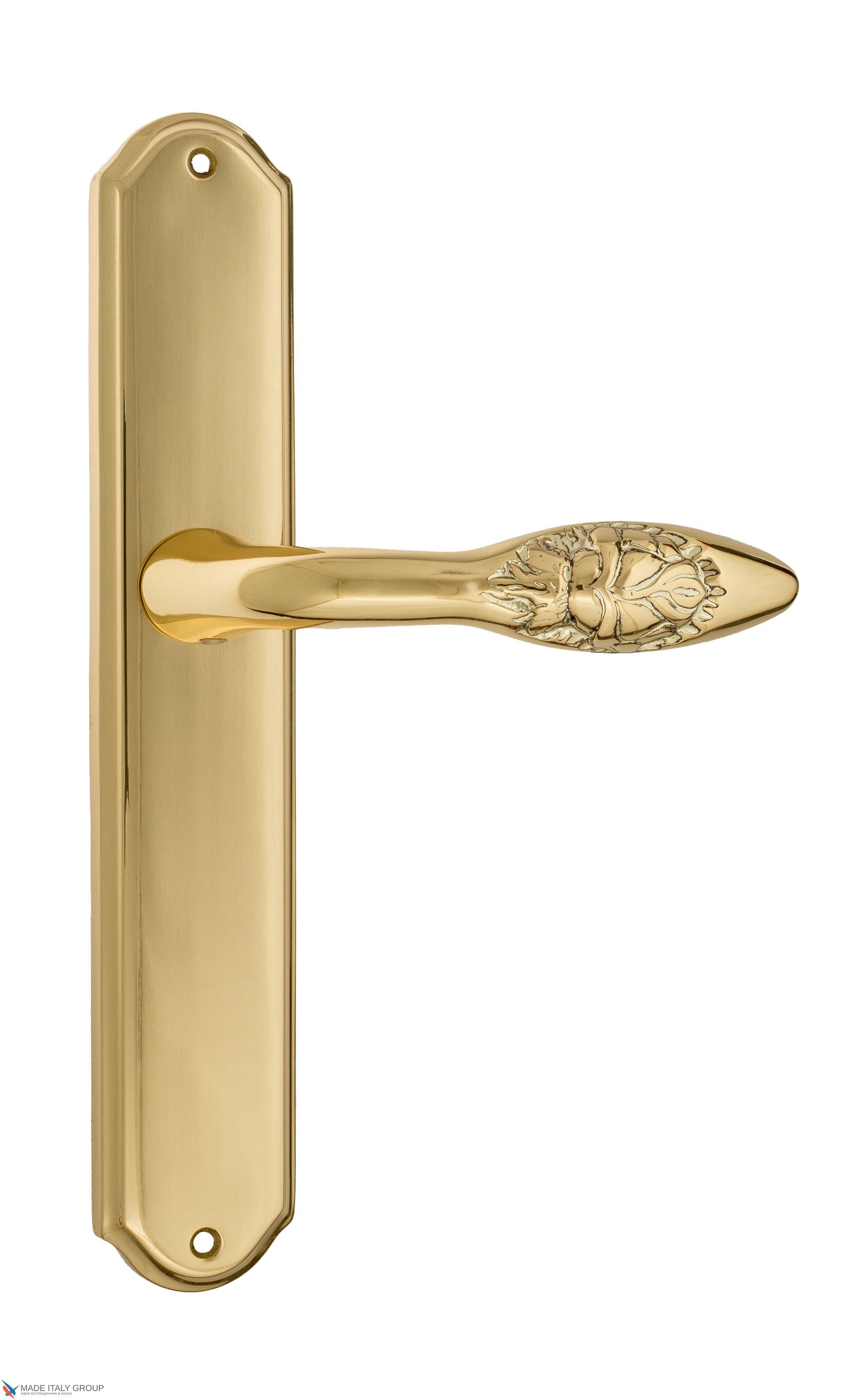 """Дверная ручка Venezia """"CASANOVA"""" на планке PL02 полированная латунь"""