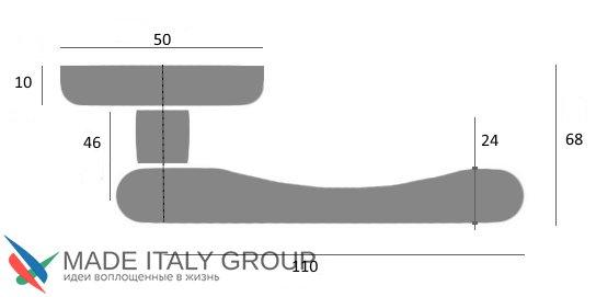 """Дверная ручка Venezia """"CASTELLO"""" D1 античное серебро"""