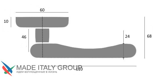 """Дверная ручка Venezia """"CASTELLO"""" D4 античное серебро"""