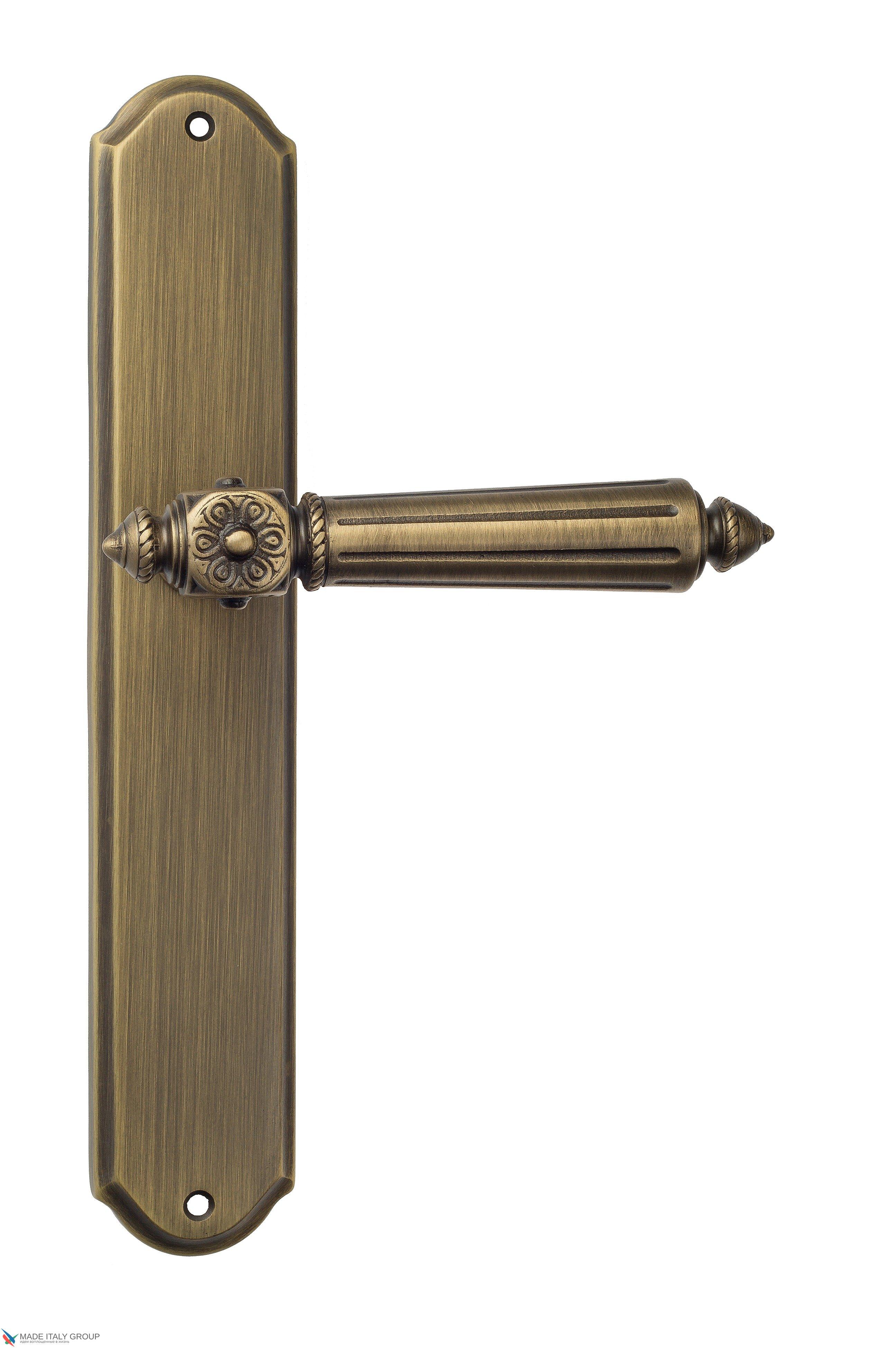 """Дверная ручка Venezia """"CASTELLO"""" на планке PL02 матовая бронза"""