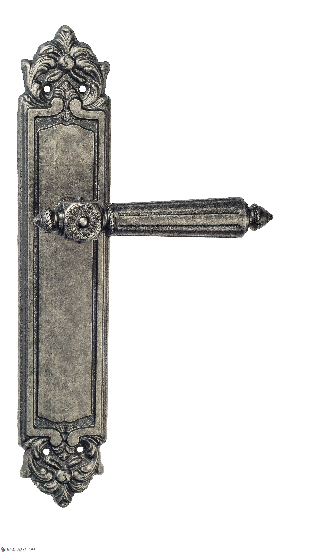 """Дверная ручка Venezia """"CASTELLO"""" на планке PL96 античное серебро"""
