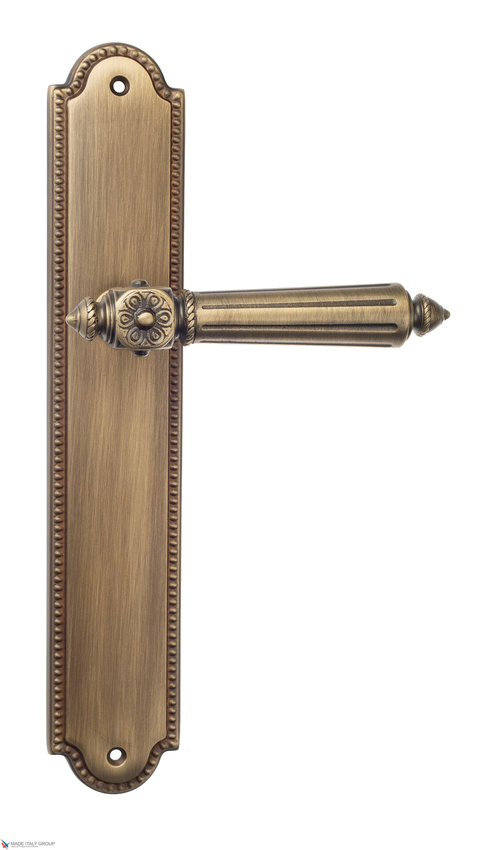 """Дверная ручка Venezia """"CASTELLO"""" на планке PL98 матовая бронза"""