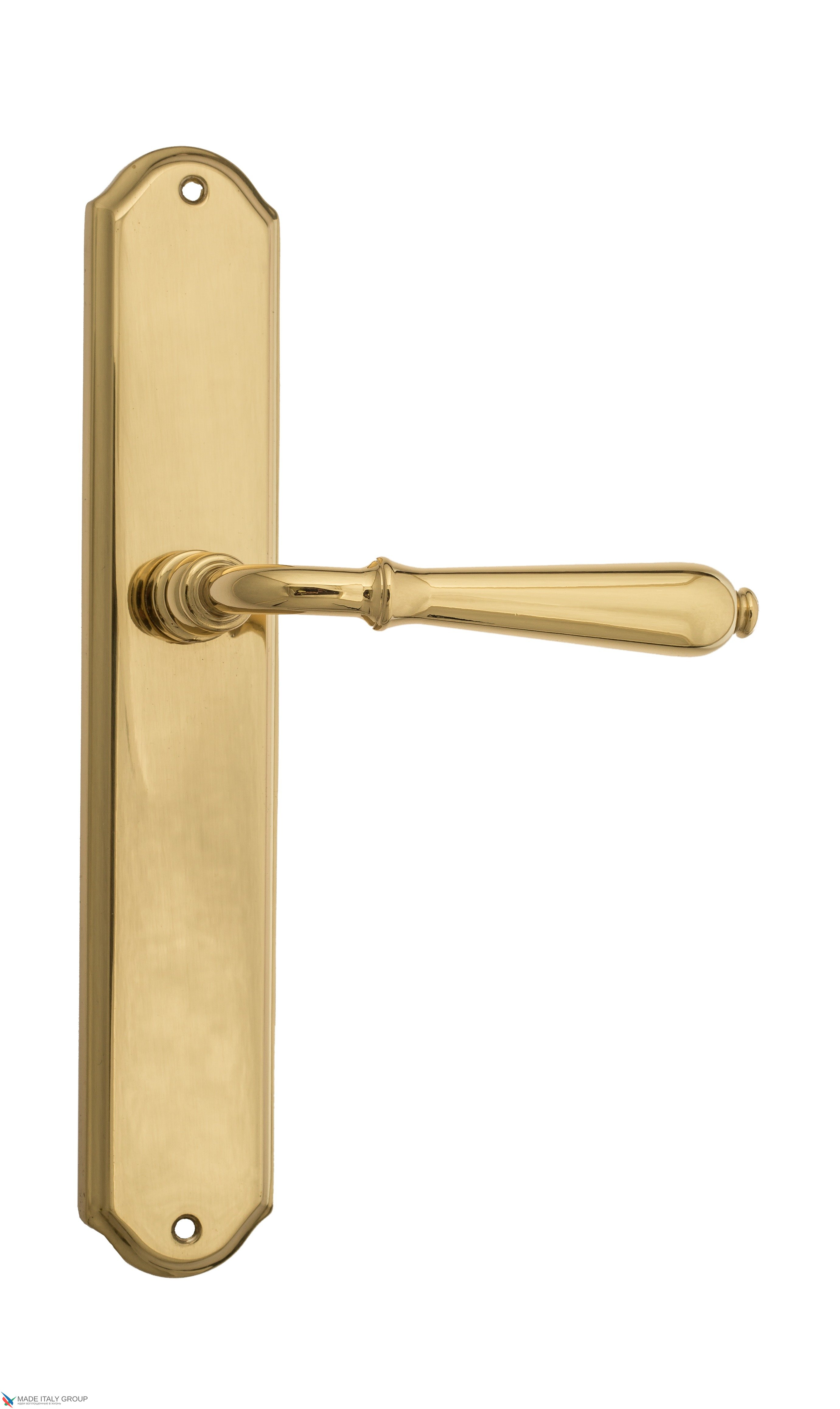 """Дверная ручка Venezia """"CLASSIC"""" на планке PL02 полированная латунь"""