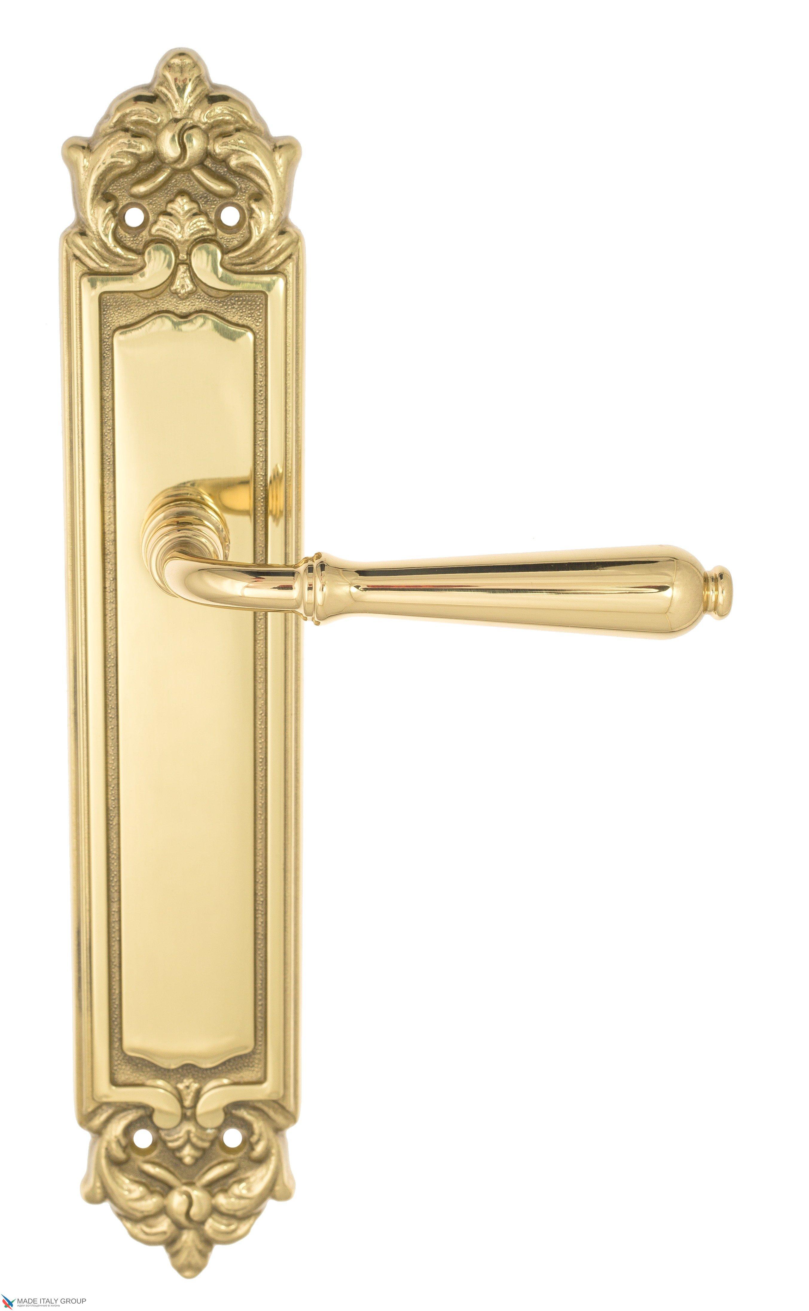 """Дверная ручка Venezia """"CLASSIC"""" на планке PL96 полированная латунь"""