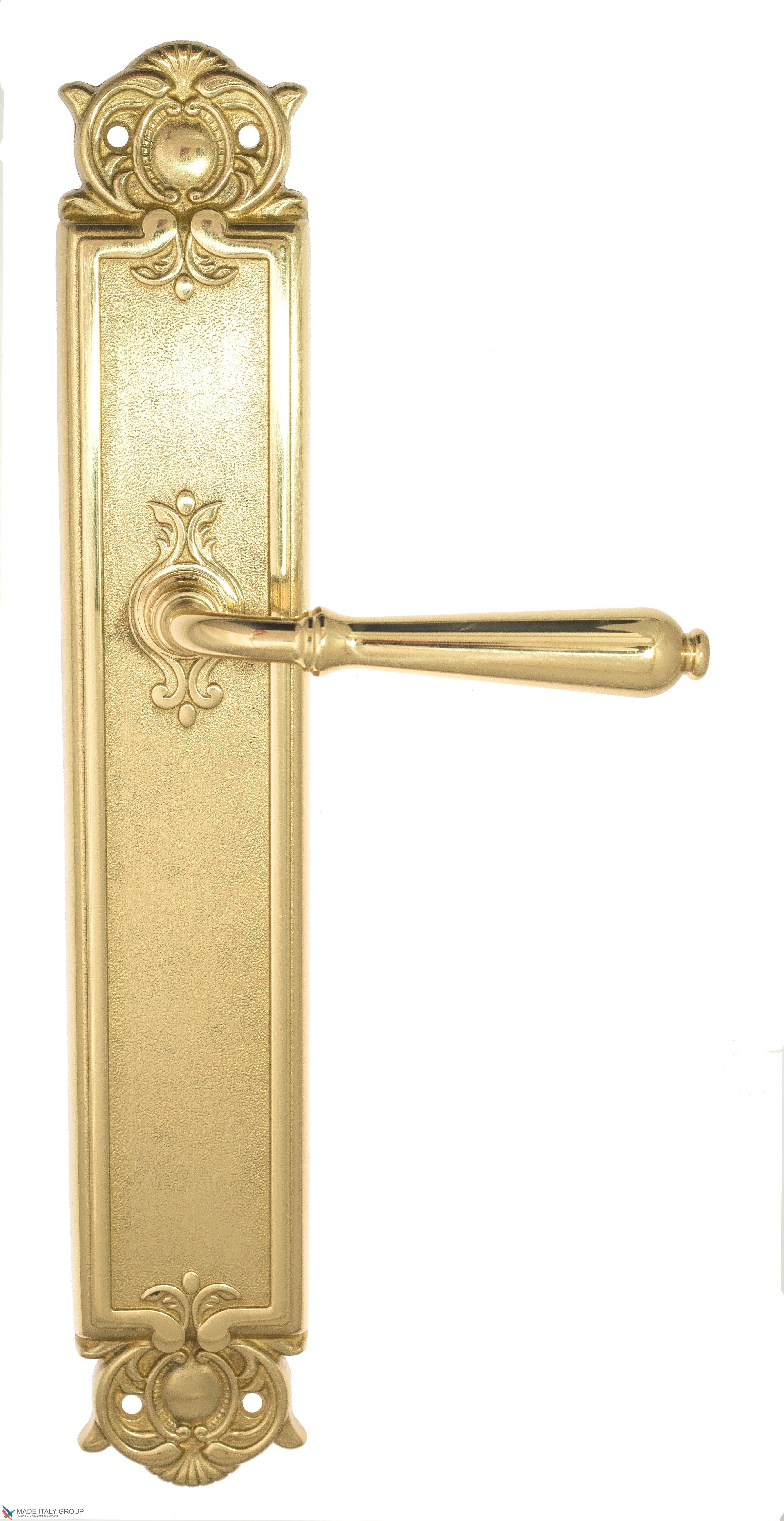 """Дверная ручка Venezia """"CLASSIC"""" на планке PL97 полированная латунь"""