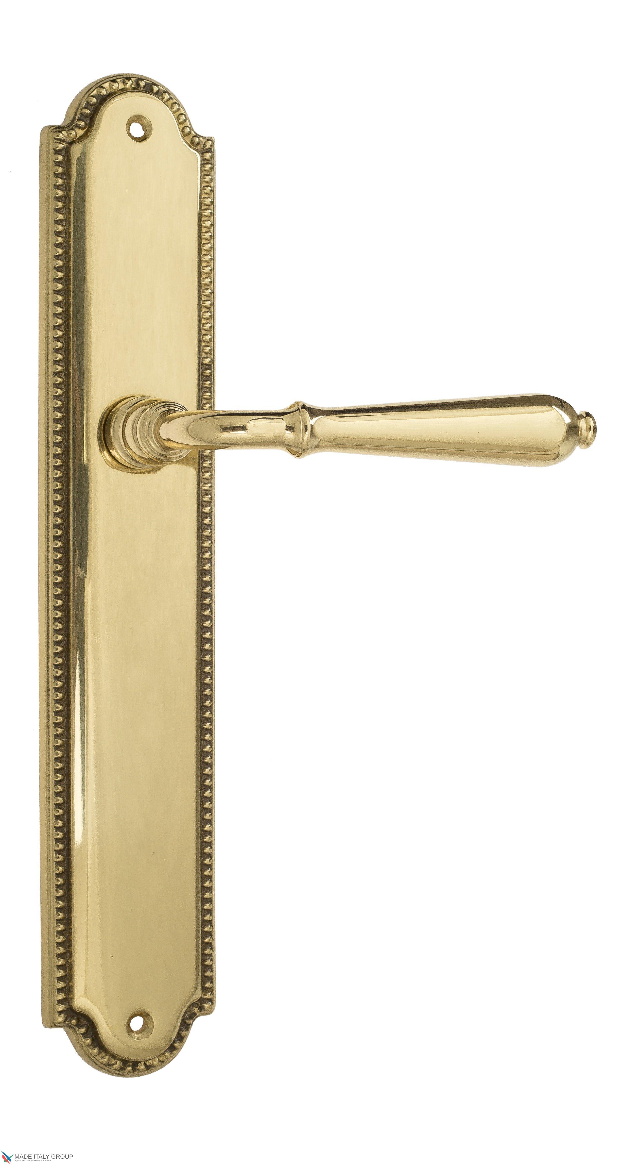 """Дверная ручка Venezia """"CLASSIC"""" на планке PL98 полированная латунь"""