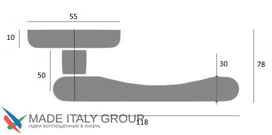"""Дверная ручка Venezia """"COLOSSEO"""" белая керамика паутинка D3 полированная латунь"""