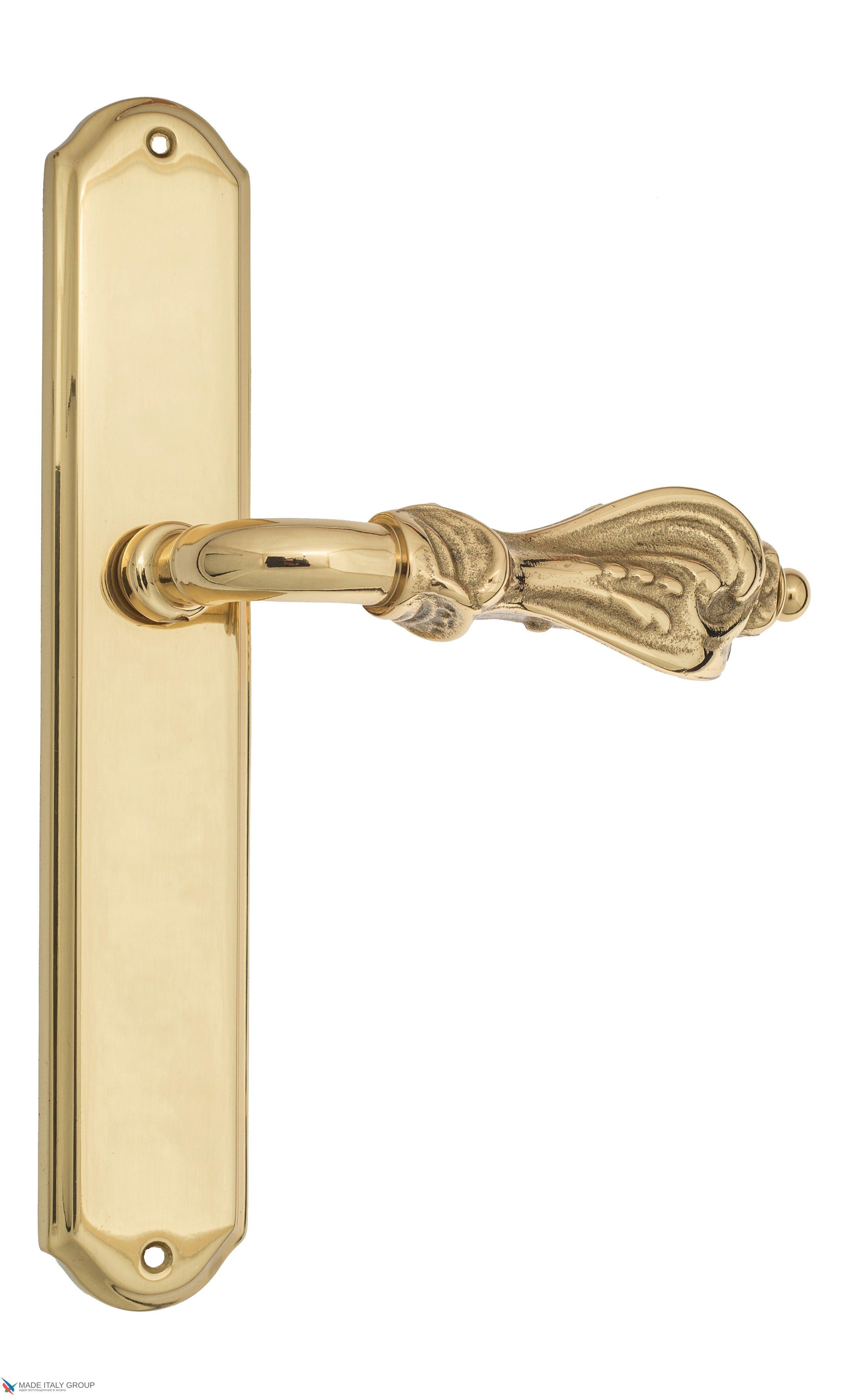 """Дверная ручка Venezia """"FLORENCE"""" на планке PL02 полированная латунь"""