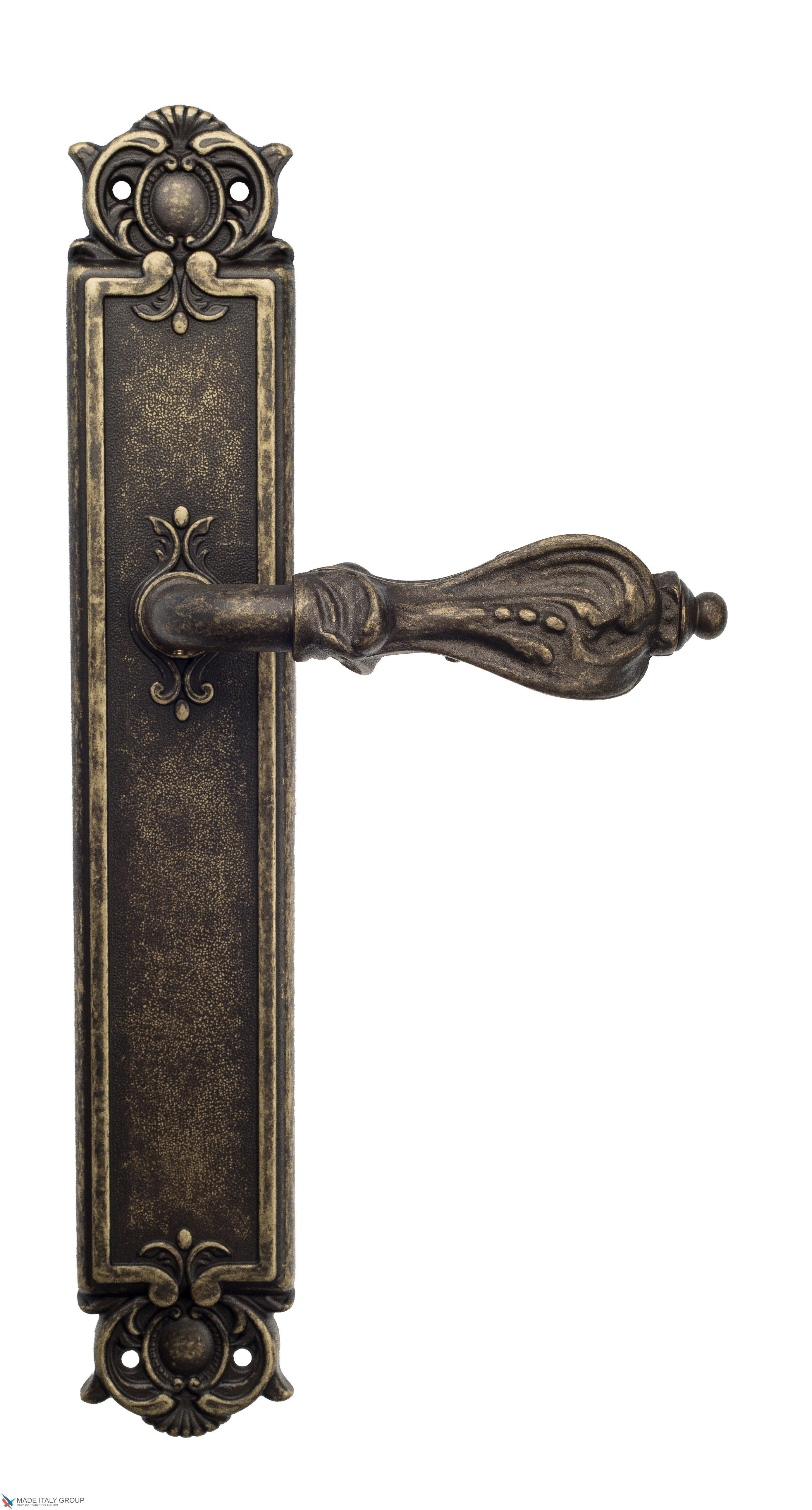 "Дверная ручка Venezia ""FLORENCE"" на планке PL97 античная бронза"