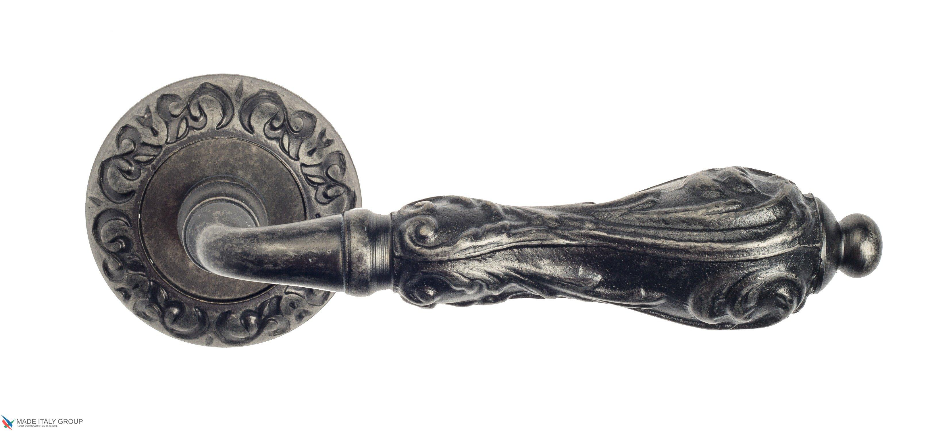 """Дверная ручка Venezia """"MONTE CRISTO"""" D4 античное серебро"""